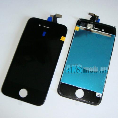 Дисплейный модуль в сборе (черный, дисплей, тачскрин, рамка) для Apple iPhone 4S Оригинал