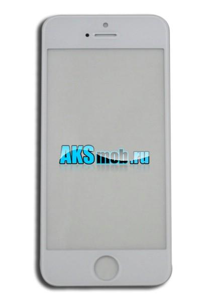 Стекло белое для Apple iPhone 5 (A1428, A1429, A1442)