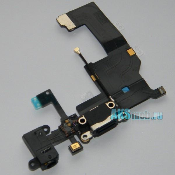 Шлейф системного разъема и наушников для Apple iPhone 5 - connector system flex/Earphone flex