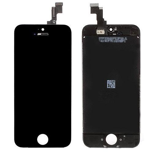 Дисплей в сборе с тачскрином и стеклом для Apple iPhone 5C (A1456 / A1507 / A1529 / A1532) - черный