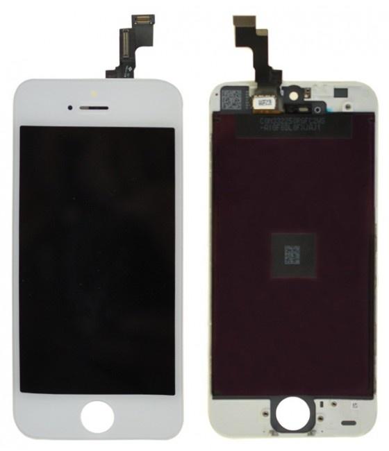 Дисплей в сборе с тачскрином и стеклом для Apple iPhone 5C (A1456 / A1507 / A1529 / A1532) - белый - Оригинал
