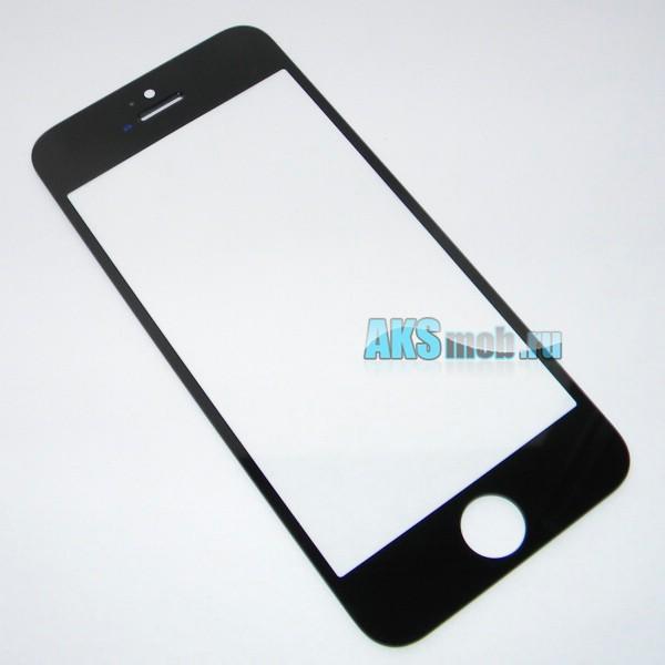 Стекло черное для Apple iPhone 5 (A1428, A1429, A1442)