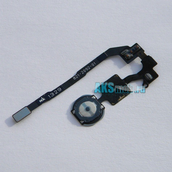 Шлейф 821-2092-01 с кнопкой Home для Apple iPhone 5S (A1453 / A1457 / A1530 / A1533) - flex cable - Оригинал