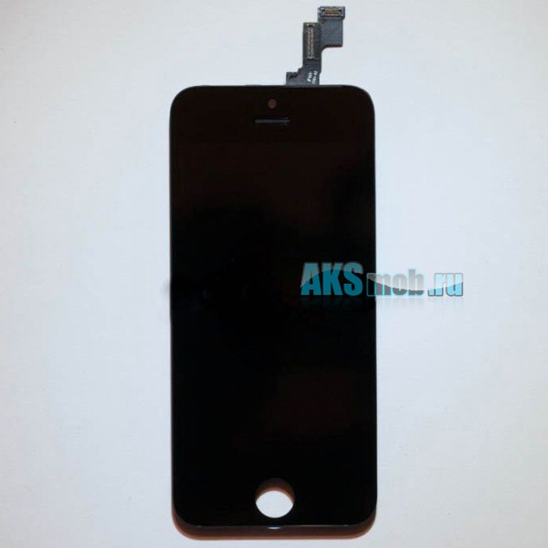 Дисплейный модуль (дисплей, тачскрин, стекло, рамка) черный для Apple iPhone 5S (A1453 / A1457 / A1530 / A1533)