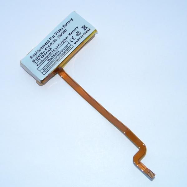 Аккумулятор (батарейка) 616-0229 для iPod Classic / Video (A1136/A1238) - 650mAh