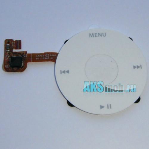 Плата Turnplate (плата кнопок, плюс кнопки) белая для Apple iPod Classic Оригинал