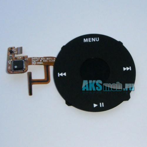 Плата Turnplate (плата кнопок, плюс кнопки) черная для Apple iPod Video Оригинал