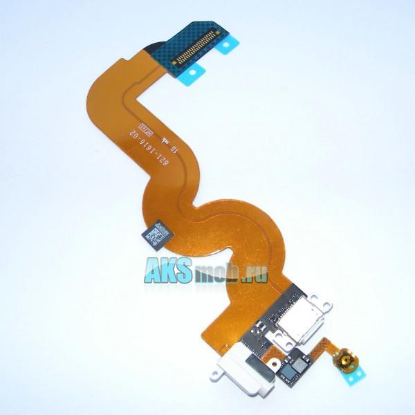 Шлейф с разъемом зарядки, разъемом наушников и с кнопкой Home для Apple iPod Touch 5 - A1421 - Оригинал