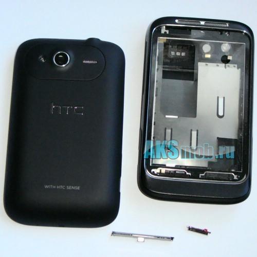 Корпус HTC A510e Wildfire S черный (в сборе, кнопки) Оригинал
