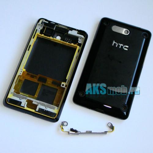 Корпус HTC A6380 Gratia черный (в сборе, боковые кнопки) Оригинал