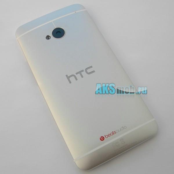 Корпус для HTC One / M7 / PN07100 / PN07110 / PN07120 / PN07130 / PN07200 / 801 - серебро