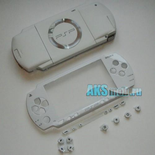 Корпус PSP 1000 Fat (белый) передняя и задняя части