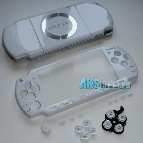 Корпус PSP 2000 Slim (белый) передняя и задняя части