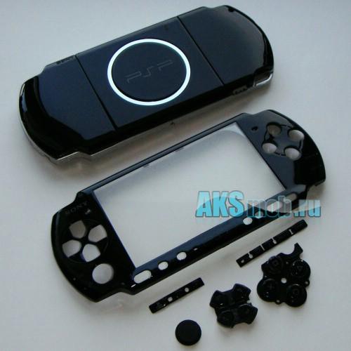 Корпус для PSP 3000 черный (передняя и задняя части)