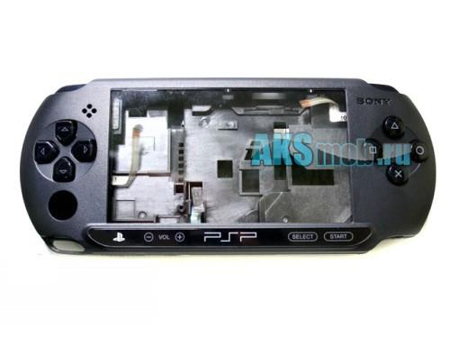 Корпус в сборе с шлейфами (оригинал) Черный для Sony PSP Street E1000-E1008