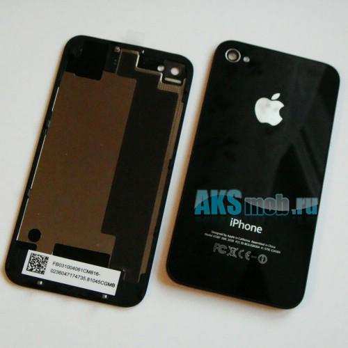 Корпус для Apple iPhone 4S (Задняя часть крышка, черная)