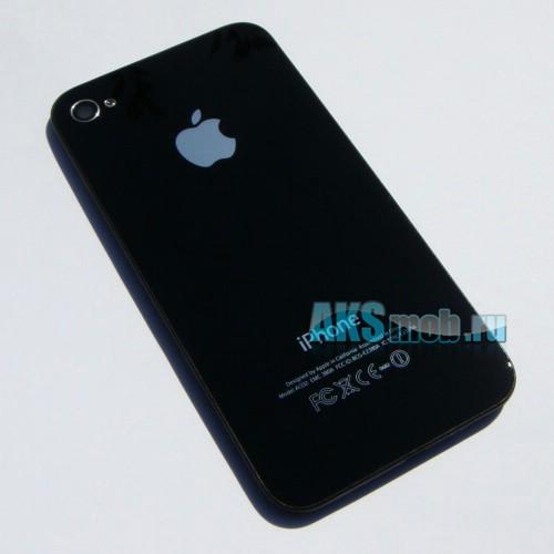 Корпус для Apple iPhone 4G (Задняя часть крышка, черная)