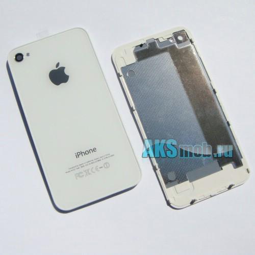 Корпус для Apple iPhone 4G (Задняя часть крышка, белая)