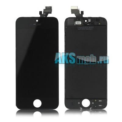 Дисплейный модуль (дисплей, тачскрин, стекло) черный для Apple iPhone 5 (A1428, A1429, A1442)