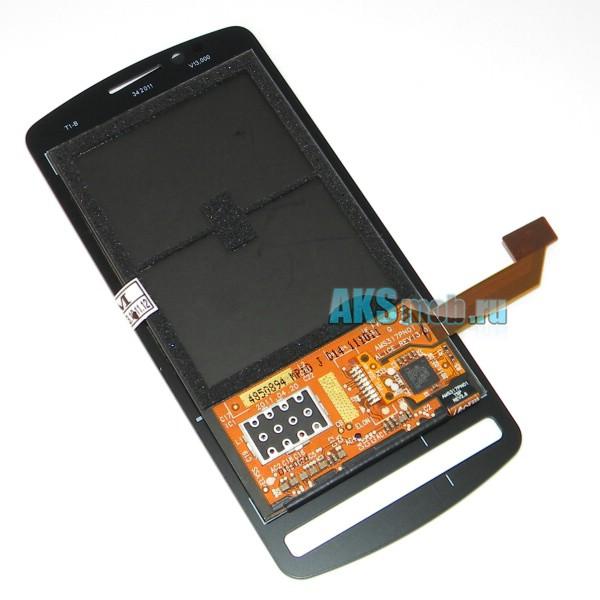 Дисплей в сборе с тачскрином черный для Nokia 700 - Оригинал