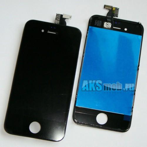 Дисплей с тачскрином в сборе (черный) для Apple iPhone 4G