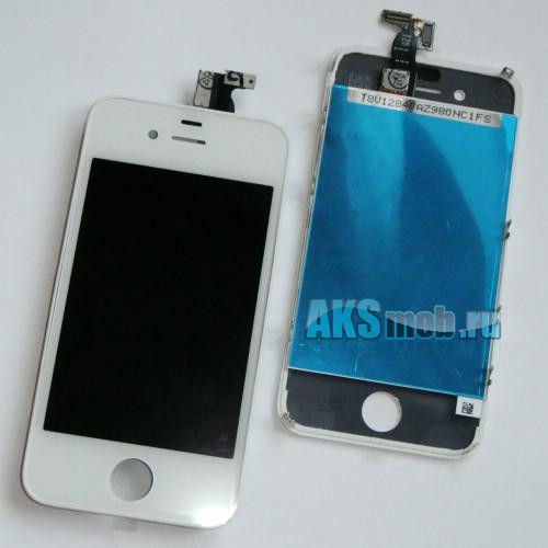 Дисплей с тачскрином в сборе (белый) для Apple iPhone 4G