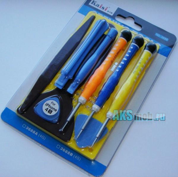 Набор инструментов для разборки и ремонта сотовых, iPhone, iPod, PSP, Nintendo 10 предметов