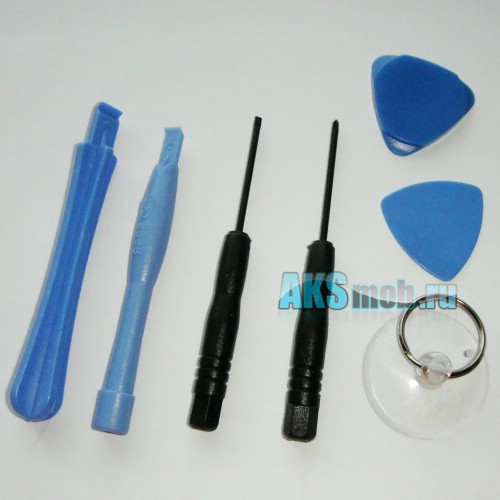 Набор инструментов для разборки iPhone, iPod, PSP, Nintendo (2 отвертки, 4 вскрывателя, присоска)