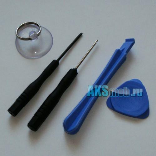 Набор инструментов для разборки iPhone, iPod, PSP, Nintendo (2 отвертки, 2 вскрывателя, присоска)