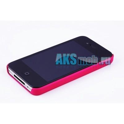 Бампер - накладка Moshi для iPhone 4/4S малиновый