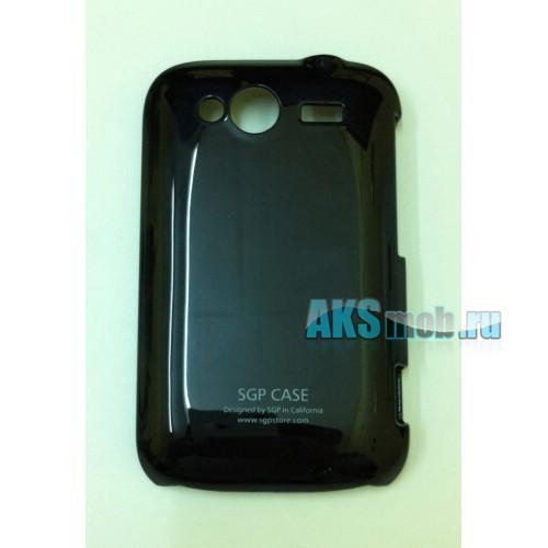 Бампер - накладка SGP для HTC A510e Wildfire S черный