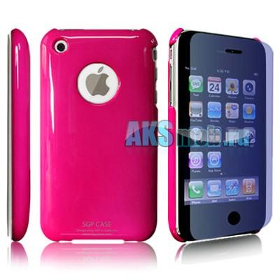 Бампер - накладка SGP для iPhone 3G/3GS розовый