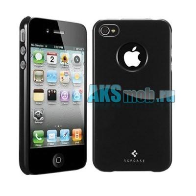 Бампер - накладка SGP для iPhone 4/4S черный