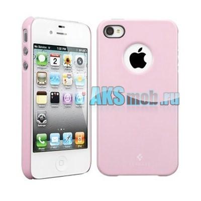 Бампер - накладка SGP для iPhone 4/4S розовый