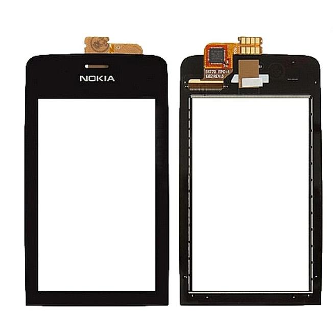 Тачскрин (Сенсорное стекло) для Nokia Asha 308 / 309 / 310 - черный