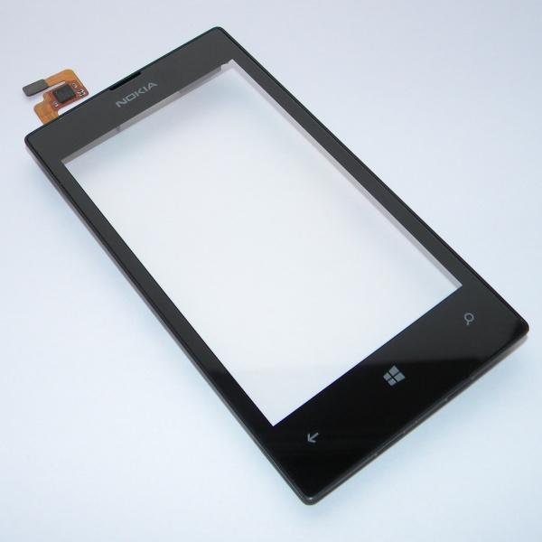 Тачскрин (Сенсорное стекло) для Nokia Lumia 520 - touch screen с передней панелью