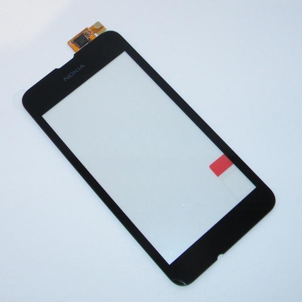 Тачскрин (Сенсорное стекло) для Nokia Lumia 530 Dual sim - touch screen - черный