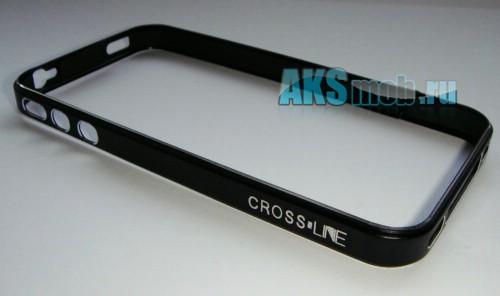 Бампер - накладка - ободок Cross-Line для iPhone 4/4S черный