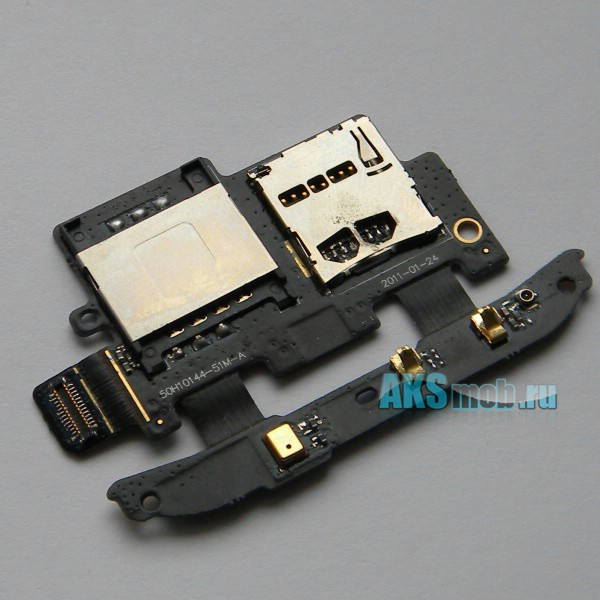Плата sim карты, карты памяти с антенной и микрофоном HTC S510E Desire S