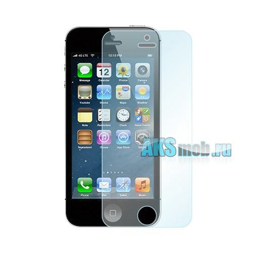 Защитная пленка (2 штуки) для Apple iPhone 5G (A1428) на экран и заднюю панель