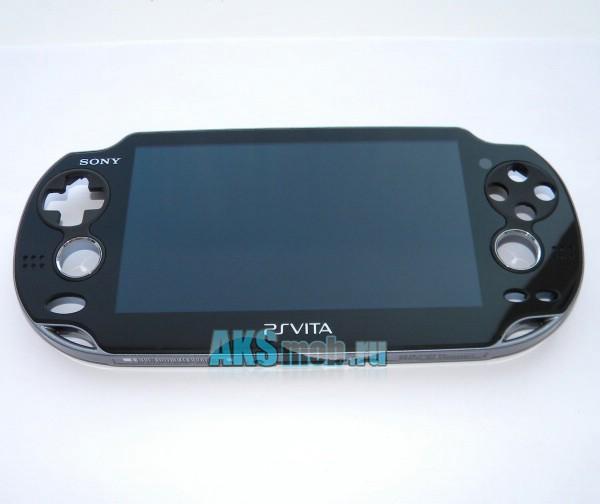 Дисплей в сборе с тачскрином, передней и средней панелью для PS Vita - Оригинал