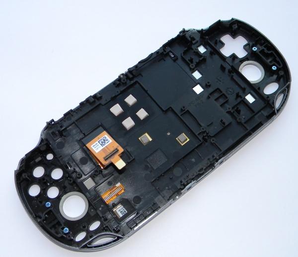 Дисплей в сборе с тачскрином, передней и средней панелью для PS Vita - Б/У с разбора