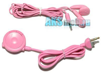 Наушники  с пультом управления для PSP 2000 Slim розовые
