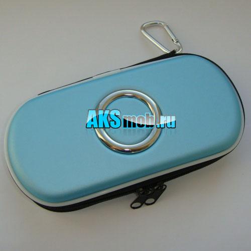 Футляр чехол для приставки PSP светло синий