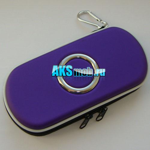 Футляр чехол для приставки PSP фиолетовый