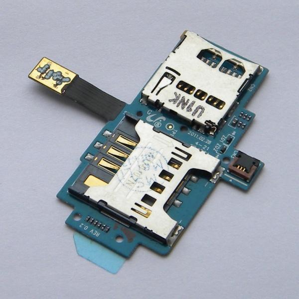 Плата sim карты и карты памяти для Samsung GT-i9000/i9001 Galaxy S