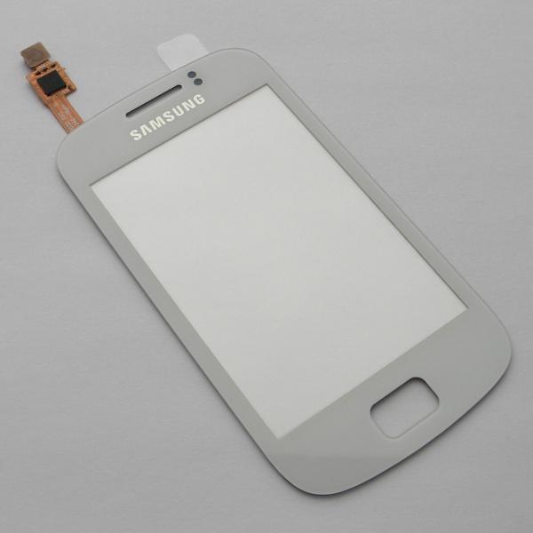 Тачскрин (Сенсорное стекло) для Samsung GT-S6500D Galaxy Mini2 - белый