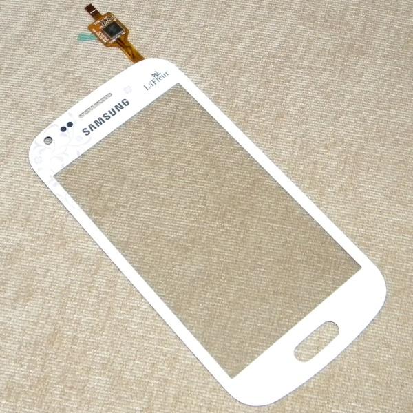Тачскрин (Сенсорное стекло) для Samsung Galaxy S Duos GT-S7562 LaFleur - белый