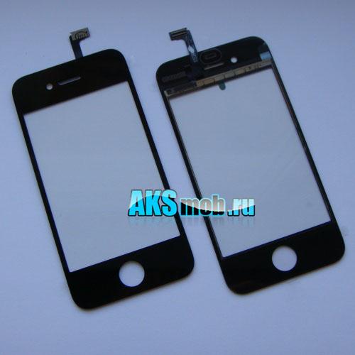 Тачскрин и стекло для Apple iPhone 4G Оригинал черный