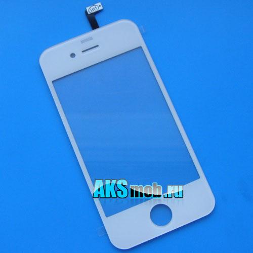 Тачскрин и стекло для Apple iPhone 4G Оригинал белый